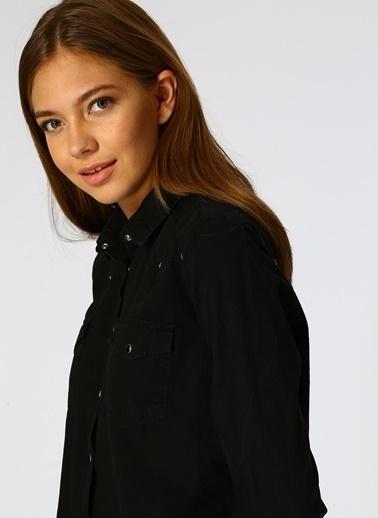 Black Pepper Uzun Kollu Gömlek Siyah